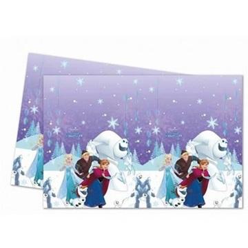 Obrázek Plastový party ubrus Frozen - Snowflakes 120 x 180 cm