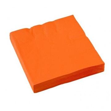 Obrázek Papírové party ubrousky oranžové 20 ks
