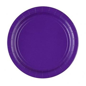 Obrázek Papírové talíře fialové 23 cm - 8 ks