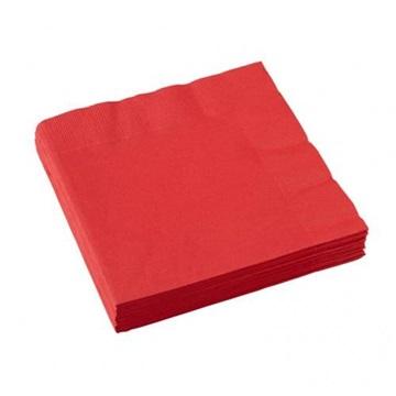 Obrázek Papírové party ubrousky červené 20 ks