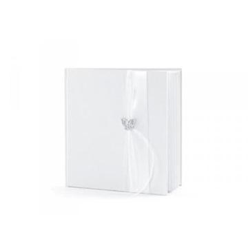 Obrázek Svatební kniha hostů 20 x 20 cm s motýlkem