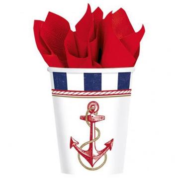 Obrázek Party papírové kelímky námořnická party - 8 ks