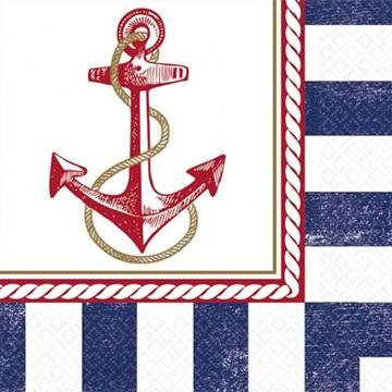 Obrázek Papírové party ubrousky Námořnické 16 ks