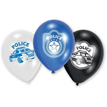 Obrázek Latexové balonky s motivem Policie 23 cm - 6 ks