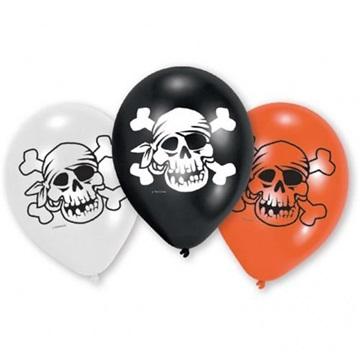 Obrázek Latexové balonky Pirátské Jolly Roger - 6 ks