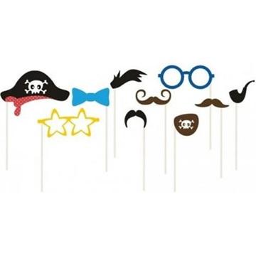 Obrázek Klučicí rekvizity do fotokoutku 10 ks pirát