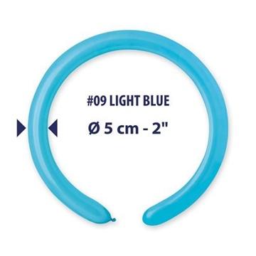 Obrázek Modelovací balonky profesionální - 100 ks - Světle modré