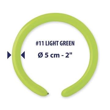 Obrázek Modelovací balonky profesionální - 100 ks - Světle zelené
