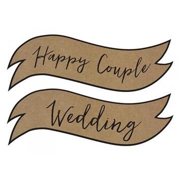 Obrázek Papírová dekorace Wedding a Happy Couple