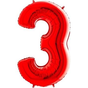 Obrázek Foliová číslice - červená 3