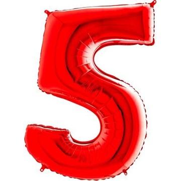 Obrázek Foliová číslice - červená 5