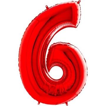 Obrázek Foliová číslice - červená 6