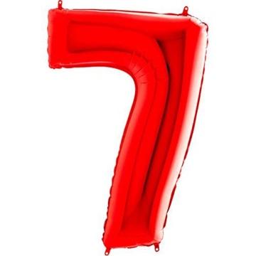 Obrázek Foliová číslice - červená 7