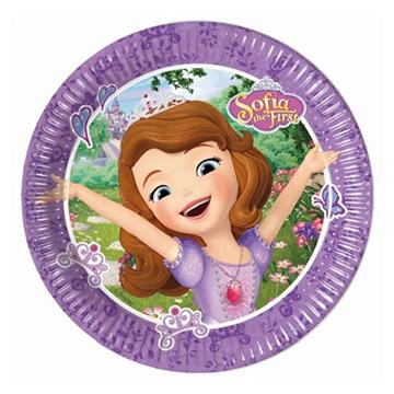 Obrázek Papírové talířky Princezna Sofie 20 cm