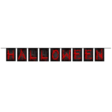 Obrázek Party nápis Halloween 123 cm