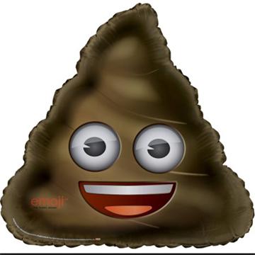 Obrázek Foliový balonek Emoji - hovínko 81 cm