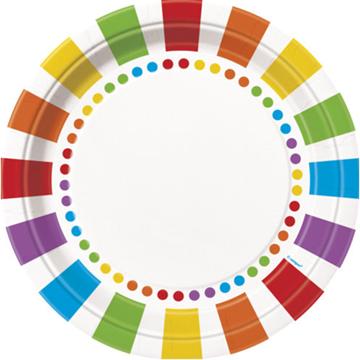 Obrázek Papírové talíře barevné 22 cm