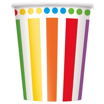 Obrázek Papírové kelímky barevné 8 ks