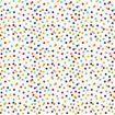 Obrázek z Balící papír s barevné puntíky 76 x 152 cm
