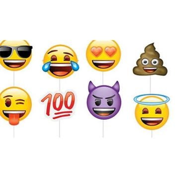 Obrázek Rekvizity do fotokoutku Emoji 8 ks