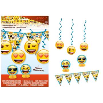 Obrázek Závěsná dekorace Emoji 7 ks