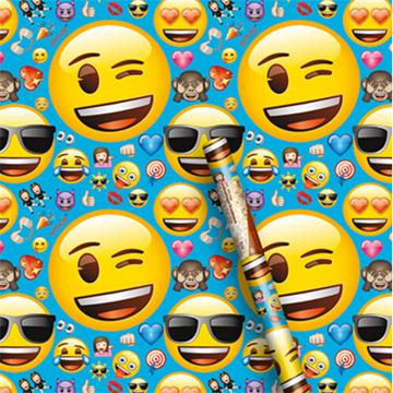 Obrázek Balící papír Emoji 76 x 152 cm