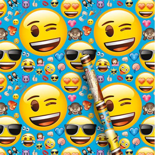Obrázek z Balící papír Emoji 76 x 152 cm
