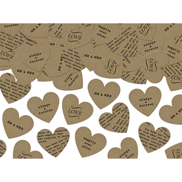 Obrázek Papírové konfety srdce 3g