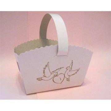Obrázek Svatební košíček s ouškem Hrdličky