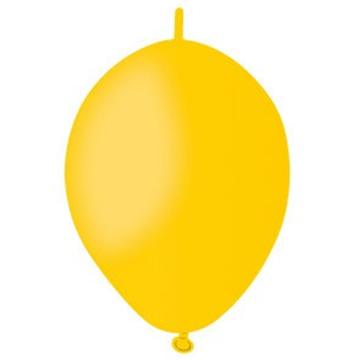 Obrázek Spojovací balonek žlutý pastelový 16 cm - 100 ks