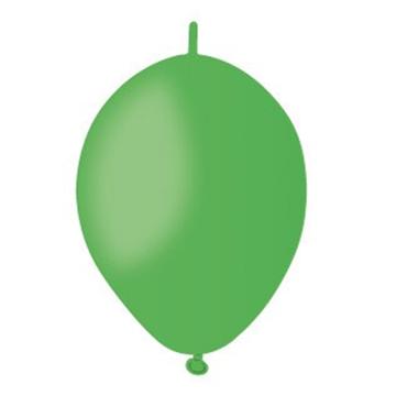 Obrázek Spojovací balonek zelený pastelový 16 cm - 100 ks