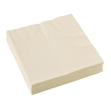 Obrázek Papírové party ubrousky vanilkové 20 ks