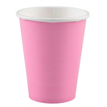 Obrázek Papírové kelímky světle růžové 8 ks