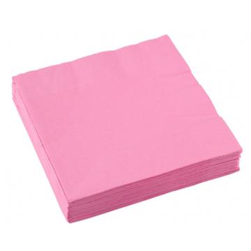 Obrázek Papírové party ubrousky světle růžové 20 ks