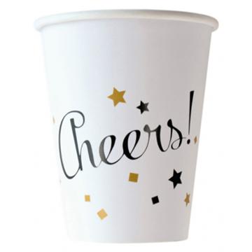 Obrázek Papírové kelímky Cheers! 8 ks