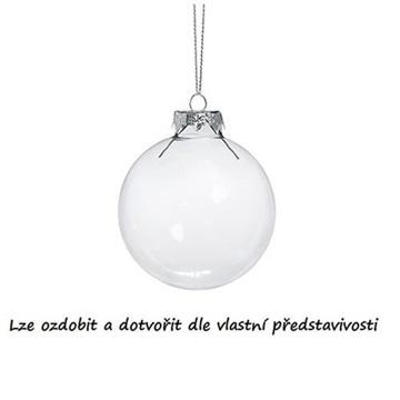 Obrázek Dekorační skleněná koule čirá - 4 cm