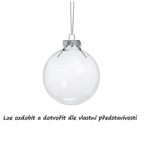 Obrázek z Dekorační skleněná koule čirá - 4 cm
