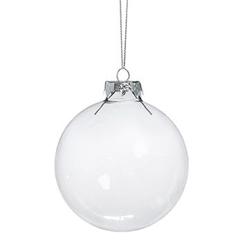 Obrázek Dekorační skleněná koule čirá - 15 cm