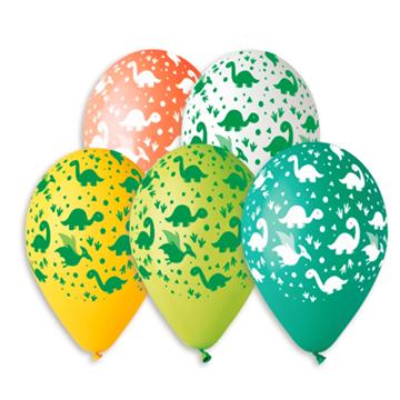Obrázek Latexový balonek s potiskem Dinosauři