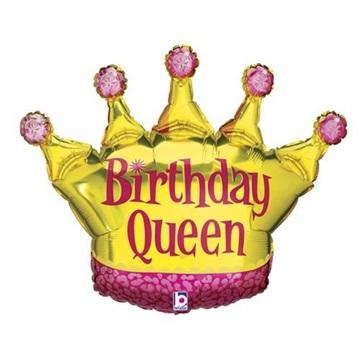 Obrázek Foliový balonek Birthday Queen 90 cm