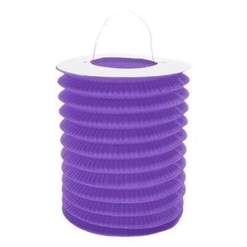 Obrázek Závěsný lampion válec - fialový