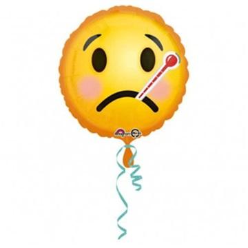 Obrázek Foliový balonek smajlík - s teploměrem 43 cm