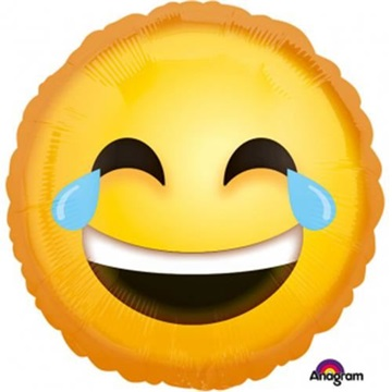 Obrázek Foliový balonek Emoji - vysmátý brečící smajlík 43 cm