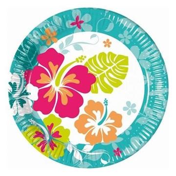 Obrázek Papírové talířky Havaj 23 cm - 8 ks