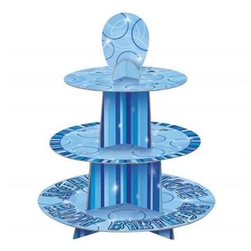 Obrázek Papírový stojan na muffiny modrý