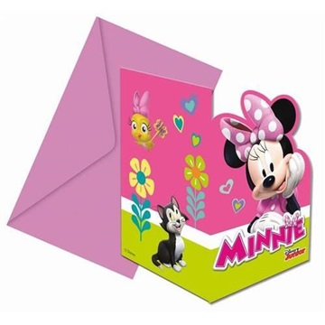 Obrázek Party pozvánky Minnie Happy Helpers 6 ks