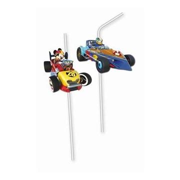 Obrázek Party brčka Mickey Roadster závodník 6 ks