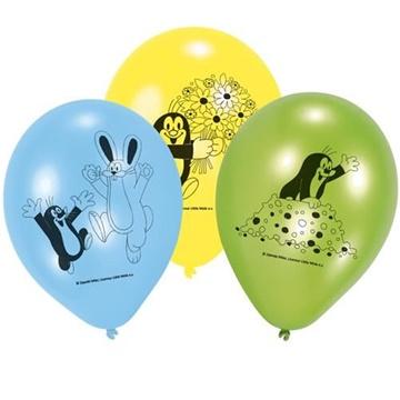 Obrázek Latexový balonek Krteček 23 cm - 6 ks