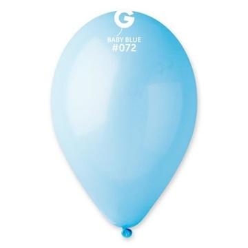 Obrázek Balonky 30 cm - modré Baby blue 100 ks