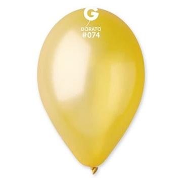 Obrázek Metalické balonky 28 cm - bronz 100 ks